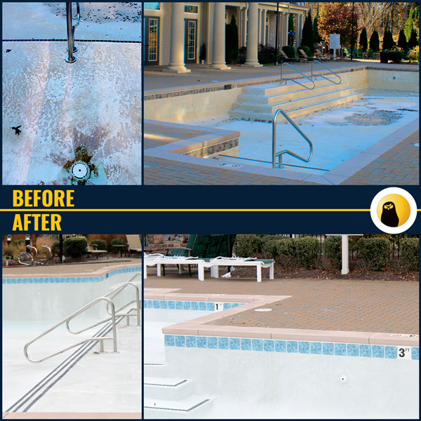 Pool Improvement Before and After